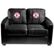 Boston Red Sox MLB Silver Love Seat