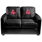 Boston Red Sox MLB Silver Love Seat with Primary Logo Panel