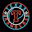 MLB Texas Rangers Neon Team Logo Sign