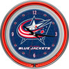 NHL Columbus Blue Jackets Neon Clock - 14 inch Diameter