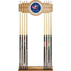 NHL Columbus Blue Jackets 2 piece Wood and Mirror Wall Cue Rack