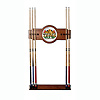 Texas Hold 'em 2 piece Wood and Mirror Wall Cue Rack