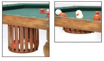 54RndW Bumper Pool Poker Table Dining Top Round Poker Table. Click Image To  Enlarge