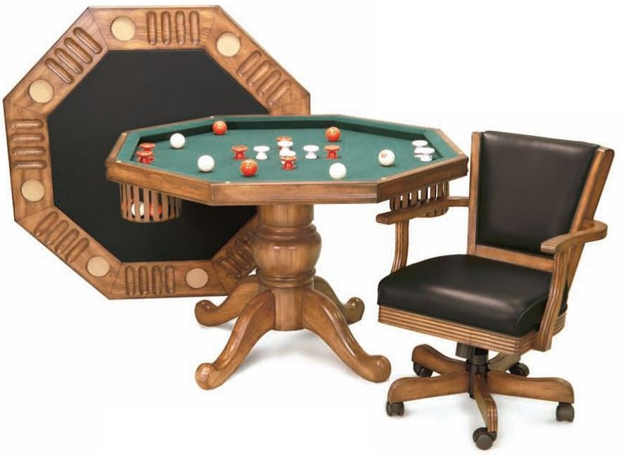 3 In 1 Dining, Poker And Bumper Pool Table 48