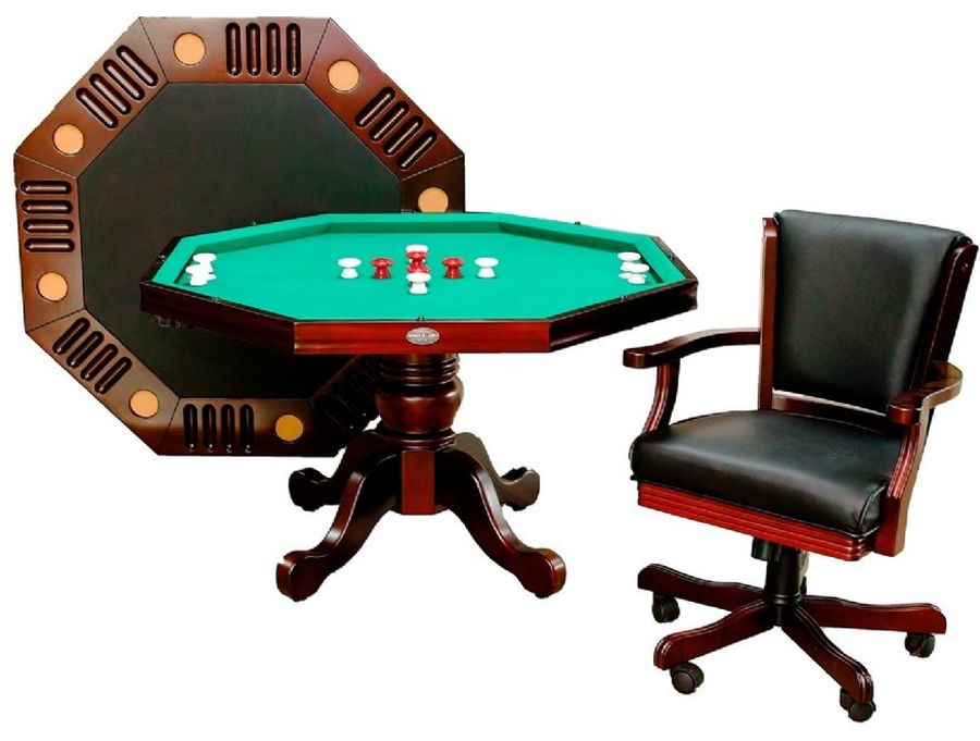 Details about bumper table pool table poker table 3 in 1 octagon table
