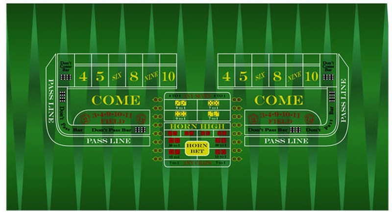 Professional Casino Style Craps Table