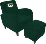 NFL Green Bay Packers sofa Den Chair with Ottoman recliners home theater sofa leather sofas Video Chair