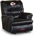 NFL Kansas City Chiefs sofa Big Daddy Black Leather Recliner home theater Sofas