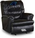 NFL Carolina Panthers sofa Big Daddy Black Leather Recliner home theater Sofas
