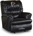 NFL Atlanta Falcons sofa Big Daddy Black Leather Recliner home theater Sofas