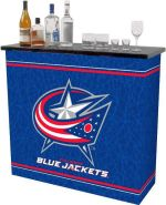 2 shelf Columbus Blue Jackets   NHL Portable Bar gameroom