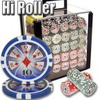 Hi Roller 14 G - Acrylic Case 1000 Ct Poker Chips Sets Poker