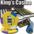 Kings Casino 14 G - Aluminum Case 1000 Ct Poker Chips Sets Poker