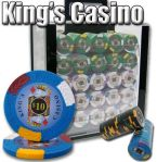 Kings Casino 14 G - Acrylic Case 1000 Ct Poker Chips Sets Poker
