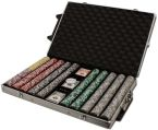 Las Vegas 14 G - Rolling Case Aluminum Case 1000 Ct Poker Chips Sets Poker