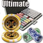 Ultimate 14 G - Aluminum Case 1000 Ct Poker Chips Sets Poker