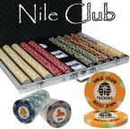 Standard Breakout Nile Club Chip Set - Aluminum Case 1000 Ct Poker Chips Sets Poker