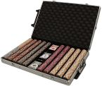 Standard Breakout Nile Club Chip Set - Aluminum Trolley1000 Ct Poker Chips Sets Poker