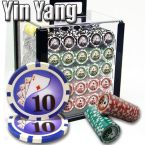 Yin Yang 13.5 G - Acrylic Case 1000 Ct Poker Chips Sets Poker