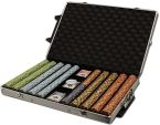 Monte Carlo Chip Set Rolling Case Aluminum Case 1000 Ct Poker Chips Sets Poker