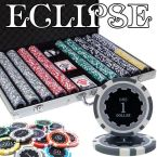 Eclipse 14 Gram Chip Set - Aluminum Case 1000 Ct Poker Chips Sets Poker