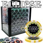 Eclipse 14 Gram Chip Set - Acrylic Case 1000 Ct Poker Chips Sets Poker