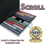 Standard Breakout Scroll Chip Set - Acrylic Case 1000 Ct Poker Chips Sets Poker