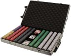 Standard Breakout Scroll Chip Set - Rolling Case 1000 Ct Poker Chips Sets Poker