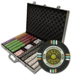 Gold Rush Chip Set in Aluminum Case 1000 Ct Poker Chips Sets Poker