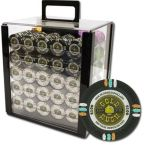 Gold Rush Chip Set in Acrylic Case 1000 Ct Poker Chips Sets Poker