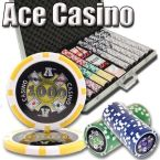 Ace Casino 14 Gram - Aluminum Case 1000 Ct Poker Chips Sets Poker