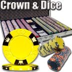 Crown & Dice - Aluminum Case 1000 Ct Poker Chips Sets Poker