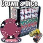 Crown & Dice - Acrylic Case 1000 Ct Poker Chips Sets Poker