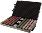 Crown & Dice - Rolling Case Aluminum Case 1000 Ct Poker Chips Sets Poker