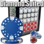 Diamond Suited 12.5G - Acrylic Case 1000 Ct Poker Chips Sets Poker