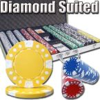 Diamond Suited 12.5G - Aluminum Case 1000 Ct Poker Chips Sets Poker