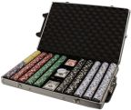 Diamond Suited 12.5G - Rolling Case 1000 Ct Poker Chips Sets Poker