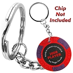 Key Ring Poker Chip Holder