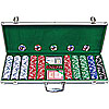 500 11.5G Jackpot Casino Clay Poker Chips w/Aluminum Case
