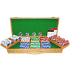 500 11.5g Jackpot Casino Clay Chips w/ Oak Case