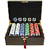 500 11.5g Jackpot Casino Clay Chips w/ Mahogany Case