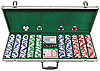 500 Landmark Lucky Crowns 11.5g Poker Chips w/Aluminum Case