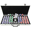 650 Landmark Lucky Crowns 11.5g Poker Chips w/Aluminum Case