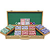 500 Chip Ace/King Suited 11.5g Set w/Genuine Oak Case
