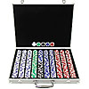 1000 11.5G Holdem Poker Chip Set w/Aluminum Case