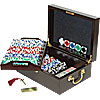 500 11.5G Holdem Poker Chip Set w/Beautiful Mahogany Case