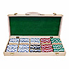 500 Pc Striped Dice Wooden Set