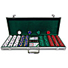 500 13 gm Pro Clay Casino Chips w/ Aluminum Case