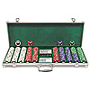 500 Welcome to Las Vegas Ltd Edition Poker Chips w/Alum Case