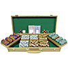 500 Chip Tri-Color Suit Design Set w/Genuine Oak Case